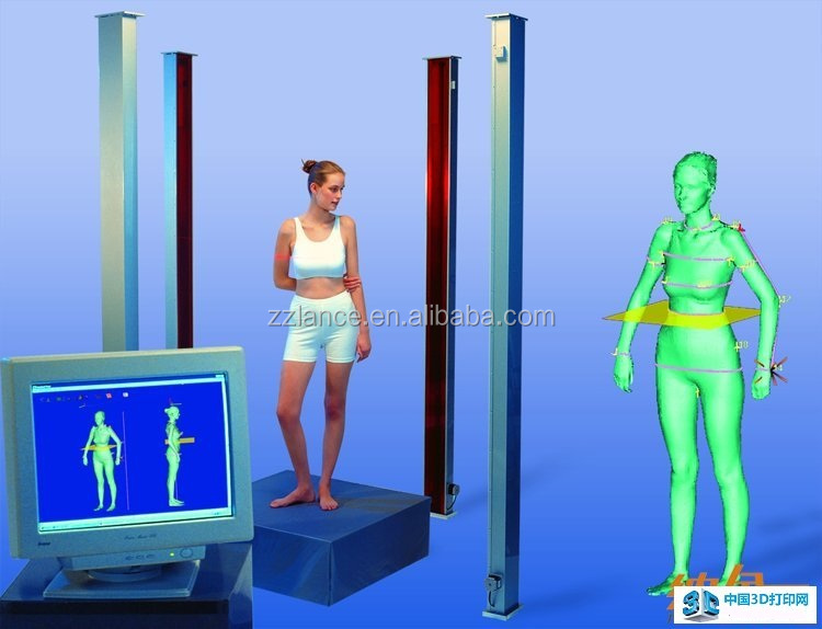 New product whole body measurement 3d scanner for tailoring with software and video