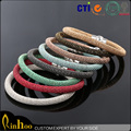 Wholesale Fashion Jewelry Colorful Magnet Buckle Silicone Bracelet with Metal Buckle Bracelet Bangle Bracelet