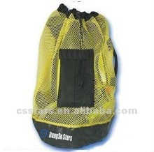 Yellow high quality and great value beach mesh backpack