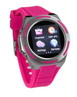 2013 watch phone A8 pink with MP4,MP3,bluetooth watch mobile phone