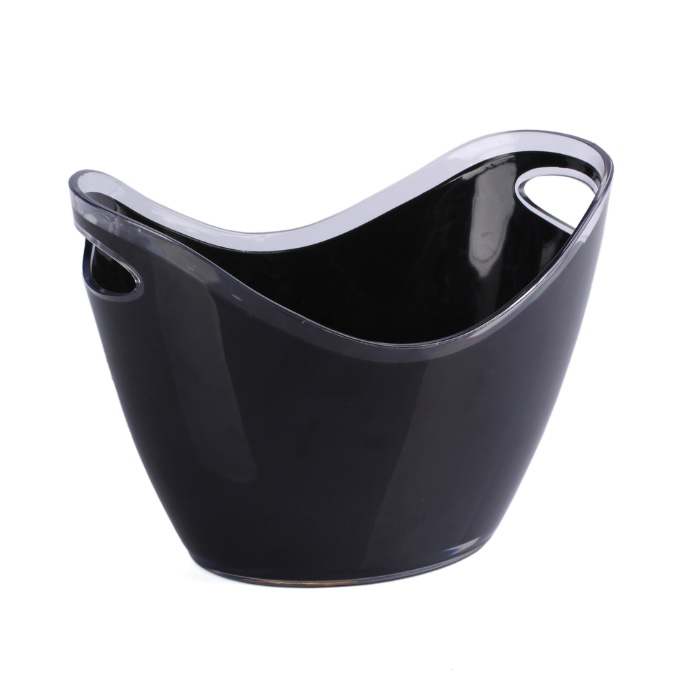 hot sale 3.5 Litre oval plastic acrylic ice bucket