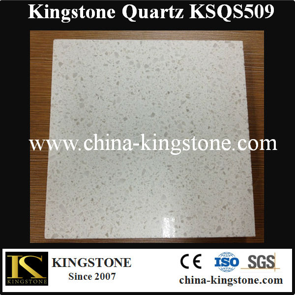 White Crystal Spot Quartz Stone Top for Indoor Decoration