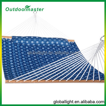 Outdoor Garden Double Size Quilted Hammock With Pillow