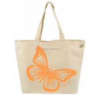 China Supplier Butterfly Tote Canvas Bags Shopping