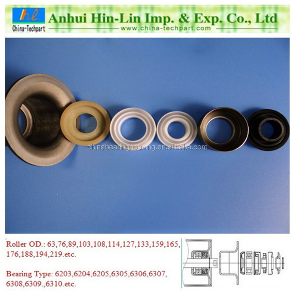 TK6204-89 bearing housing/seat/stand/base for 89mm OD steel roller pipe