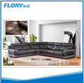 Leather sectional with Speaker and LED Lights F1380
