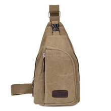popular cheap men canvas fashion shoulder sling crossbody chest bag