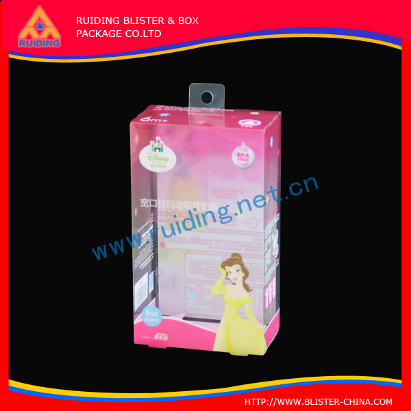 superior printing uv coating Headband clear plastic packaging PET box