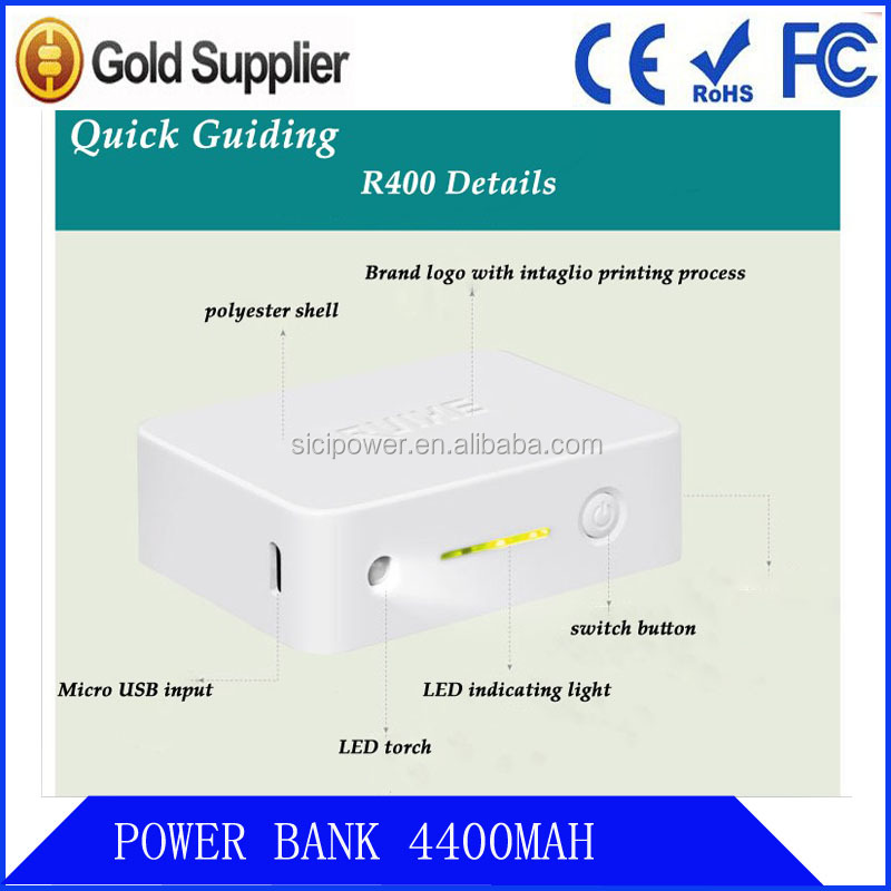 High capacity Polymer Battery portable power bank 4400mAh/charger,best business gift