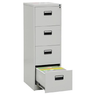Factory Direct Price Vertical 4 Drawer Steel Filing Documents Storage Cabinet With Lock Key