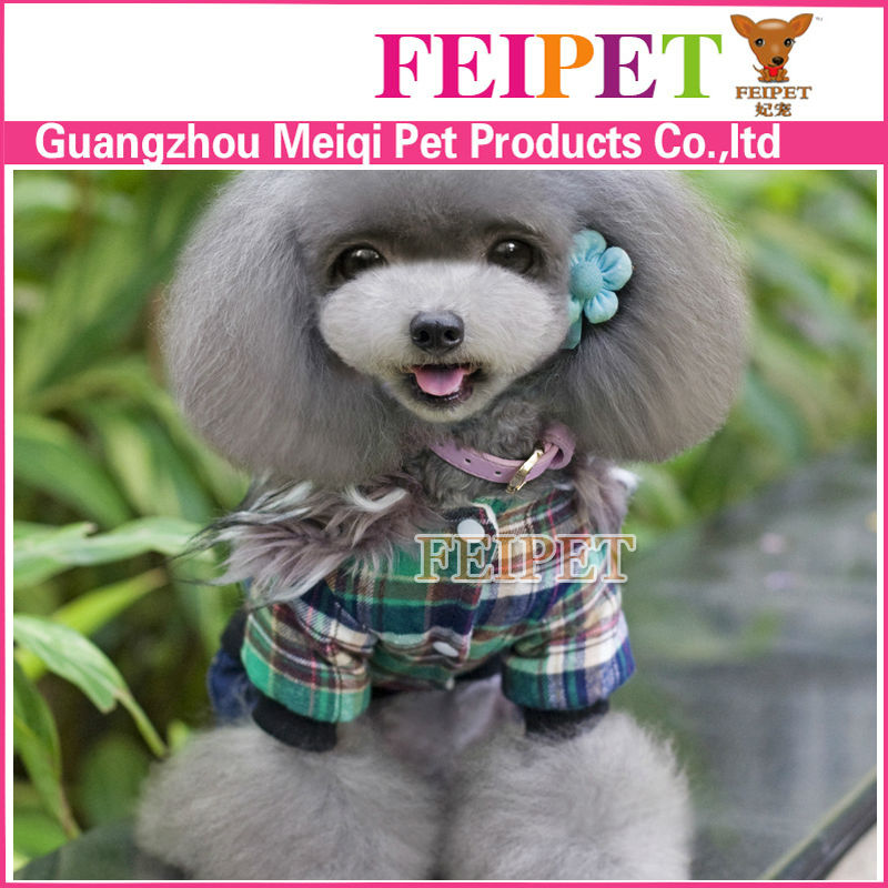 Fashionable and unique tartan design pet apparel and accessories well made in Guangzhou pet clothes