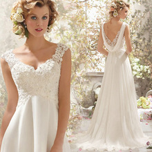 C71507A Floor Length Sweetheart Appliqued Wedding dress