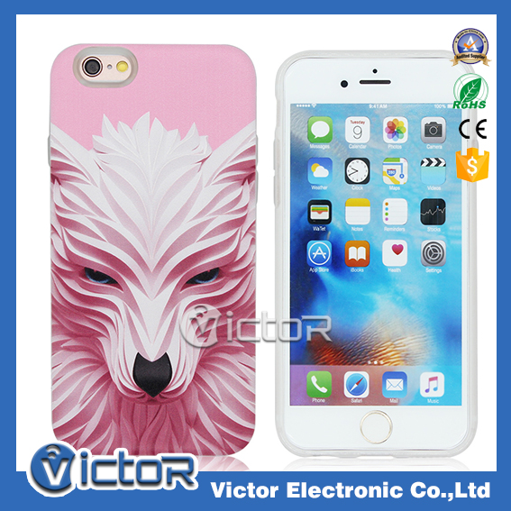 New 3D printing animal design mobile phone cover for iPhone 6