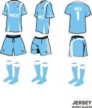 soccer jersey with short kit/ sublimation football kits