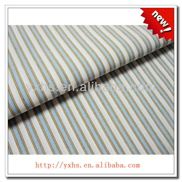 yarn dyed t/c stripe poly cotton 65/35 fabric