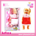 Hot selling silicon 16 inch baby girl doll sneeze with voice.