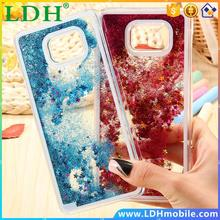 Note 5 Quicksand Clear Colorful Funny Liquid Star Moving Cover For Samsung Galaxy Note 5 N9200 Hard Plastic Back Phone Case