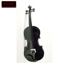 hot sale plywood violins with black color
