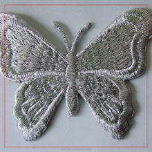 new arrival applique embroidery butterfly patches for clothing