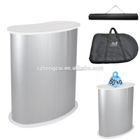 Arc Shaped Portable Plastic Promotion Table
