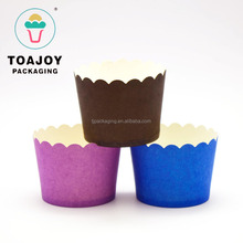 Guangzhou Food Grade Paper Disposable Mini Pure Color Muffin Paper Cups For Cake