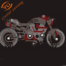 wholesale hotfix clothes motorcycle rhinestone transfer motif