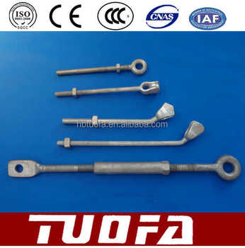 M10 M12 M16 M20eye bolts pigtail eye bolts/Forged Hot dip galvanized electrical eye bolts