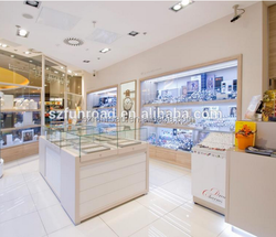 Europe Jewellery Shop Luxury Design With Led Spot Lights