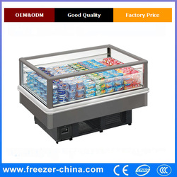 Air Cooler Type and CE Certification supermarket island freezer refrigerated equipment