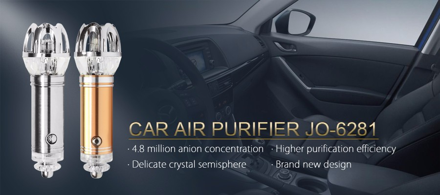 2017 Mini Portable Air Purifier Ionizer for Car JO-6281 (CE with 4.8 millions negative ions)