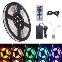 LED chrismas Flexible Strip Light 24 Key IR Remote Control 5M/16.4 Ft IP65 SMD 5050 RGB 300 LED Color Changing led strip light