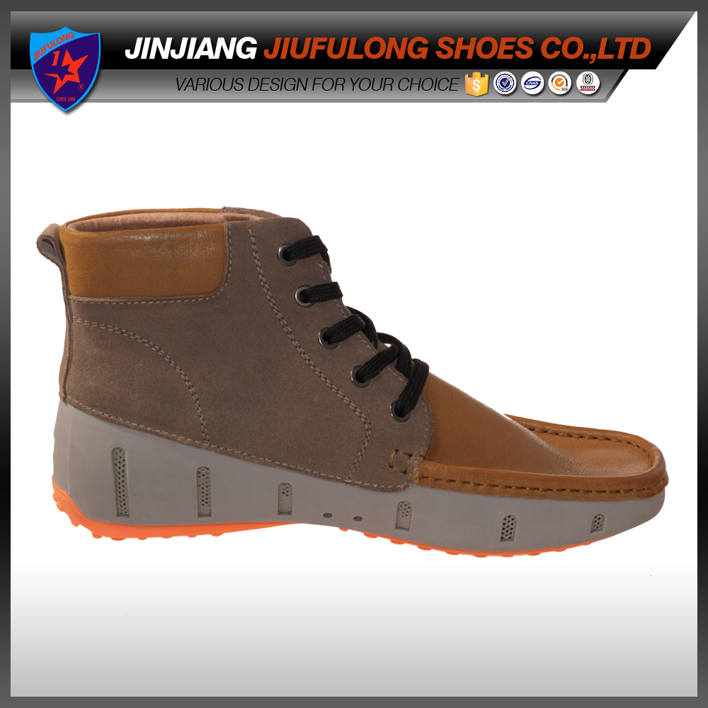 Latest Fashion Best Selling Leather Upper Material Casual Shoes Italy Design Men Shoe Soft Winter Boots