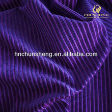 purple color 100% polyester velvet striped velboa car seat cover upholstery corduroy fabric