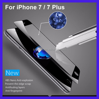3D Curved tempered glass screen protector for iphone 7 full cover tempered glass screen protector