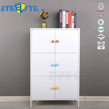 Factory Cabinet White Baby Wardrobe Clothes Toys Storage Cabinet With Shelf Design
