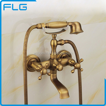 Bathroom Fittings Antique Luxury Bathroom Brass Rainfall Shower Set