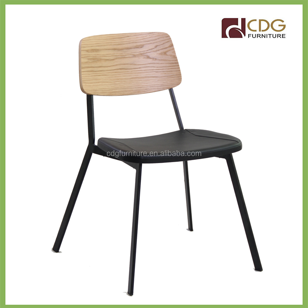 cafe shop chair in metal frame with PU seat