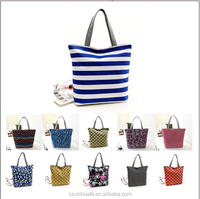 beautiful standard size striped canvas beach bag ,tote beach bag