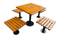 Leisure party garden bench with umbrella