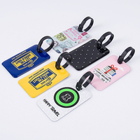 HSL013 Custom airline cheap leather suitcase promotional printed luggage tag