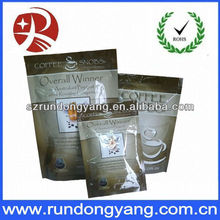 Guangzhou factory custom plastic coffe bag with elegent logo print