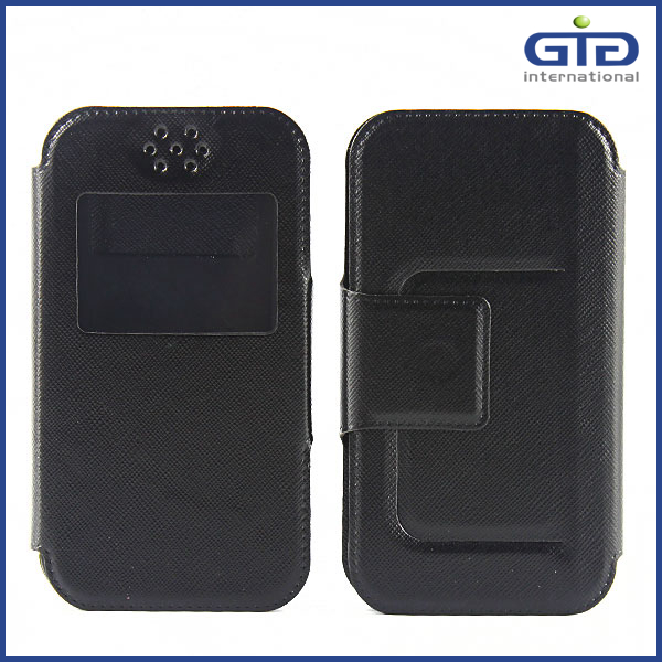 PU+Silicone Universal Flip Cover for Mobile Phone