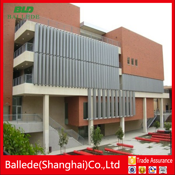 exterior aluminum building facade moveable louver as window