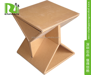 Hot Selling Chair Cardboard furniture set with cartoon design for children