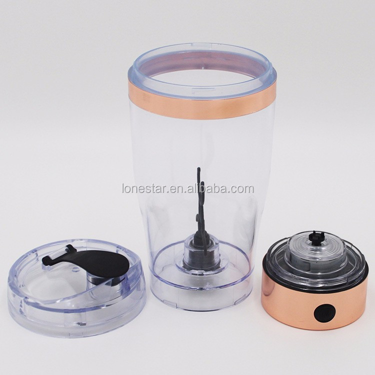 16oz/450ml Customied stainless steel shaker colour USB rechargeable wholesale electric protein shaker bottle