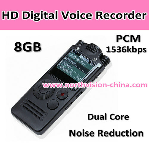 Small digital audio recorder for dictation