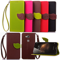 Case for Huawei G6, Hot Selling High Quality PU Leather Flip Cover Wallet Case for Huawei G6 with Hand Strap