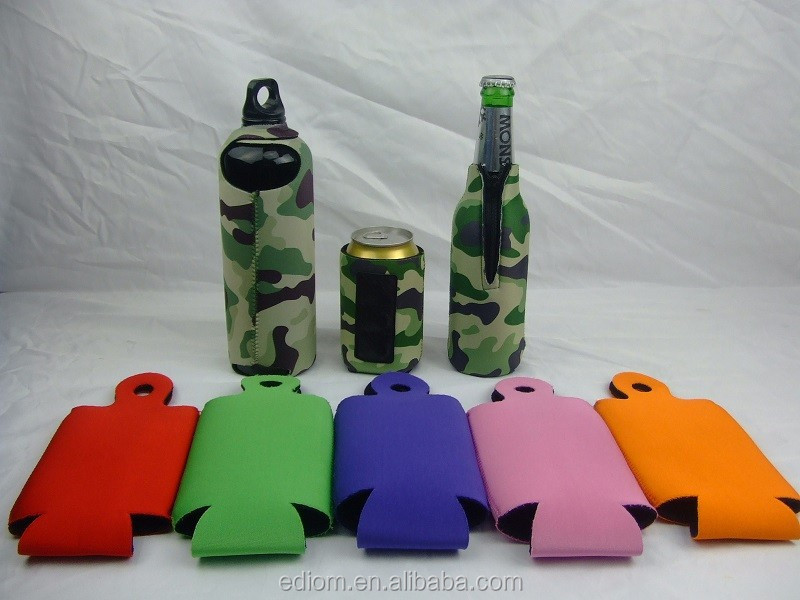 New Neoprene Red Black Blank Magnet Bottle Cooler Sleeve