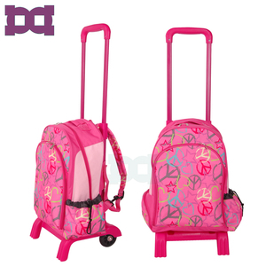 Cheap backpack school bag with wheels for child
