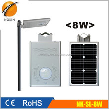 8w Chinese supplier Smart Integrated Solar LED Garden/Street Light